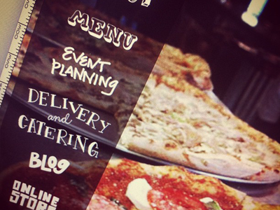 Super Small Sneak Peek of Trolley Stop Concept pizza type typography hand type photograph