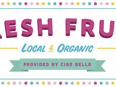 Tooty Fruity typography local organic sign painter ribbon circles lines