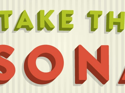 Take green orange coral 3d shadow stripes typography ready for seconds humble pied mig reyes katherine walker