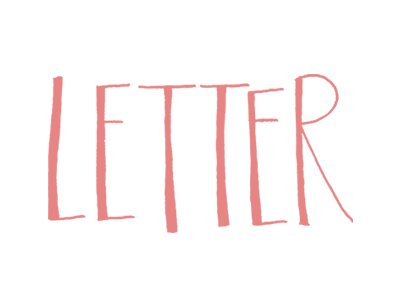 Letter typography letter hand lettering hand type