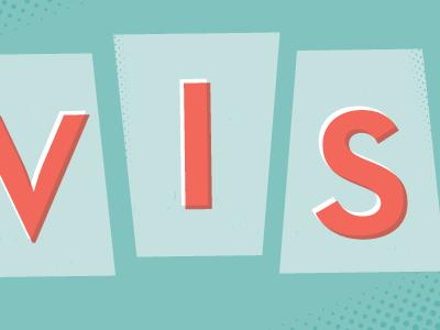Elvis type typography teal coral orange multiply halftone work in progress