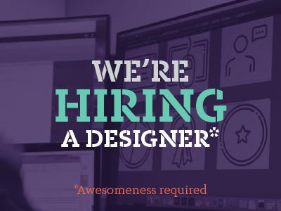 We're Hiring a Designer! philly philadelphia web design team k12 education marketing creative inhouse job hiring web designer designer design