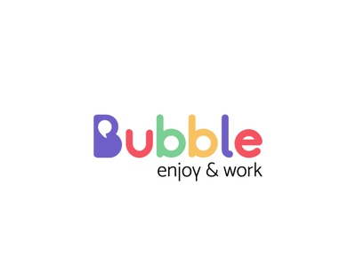 Logo de bubble hecho por la agencia 7 circulos