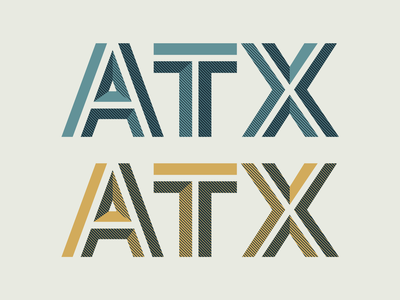 ATX Custom Lettering halftone shading lettering typography vector design illustration
