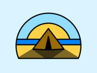 Beach Camping Circle