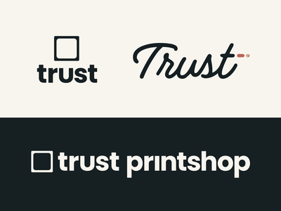 Trust Secondary Logos screen printing printshop lettering typography illustration design rebrand icons logo branding