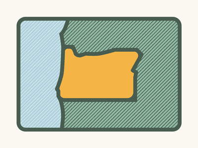 Oregon Illustration texture states oregon t-shirt design design vector icon illustration