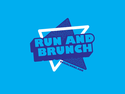 Run and Brunch Design t-shirt design t-shirt apparel design vector design typography illustration