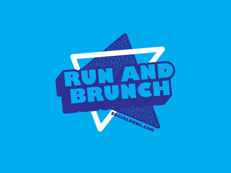 Run and Brunch Design t-shirt design t-shirt apparel design vector design typography illustration
