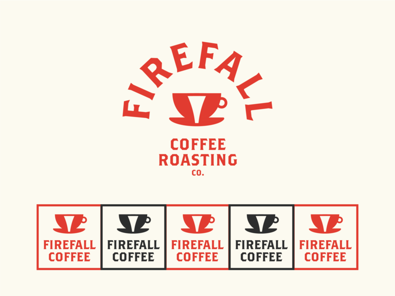 Firefall Coffee Roasters Logo yosemite firefall coffee shop coffee cafe daily logo identity design 100 day project branding