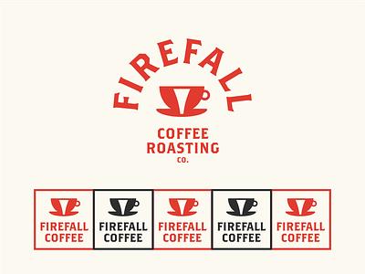 Firefall Coffee Roasters Logo yosemite firefall coffee shop coffee cafe daily logo identity design 100 day project branding