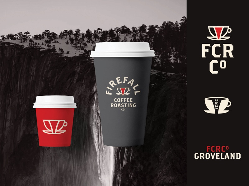 Firefall Coffee Roasting Lockups 100 day project yosemite coffee cafe daily lockups typography logo identity design branding