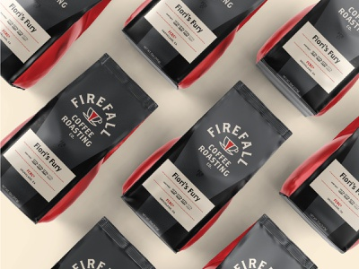 Firefall Coffee Packaging coffee bag cafe packaging coffee 100 day project identity design design branding