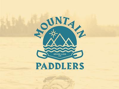 Mountain Paddlers Kayak Logo daily visual identity branding logo outdoors grand lake colorado paddlers mountain kayak