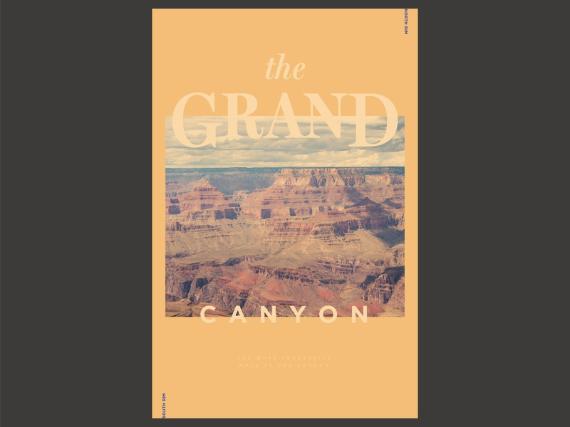 Grand Canyon National Park Poster minimal typography daily 100 day project national park grand canyon graphic layout design poster