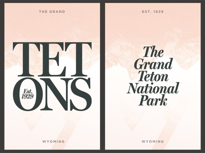 Grand Teton National Park Poster wyoming collage typography daily 100 day project layout design tetons national park poster