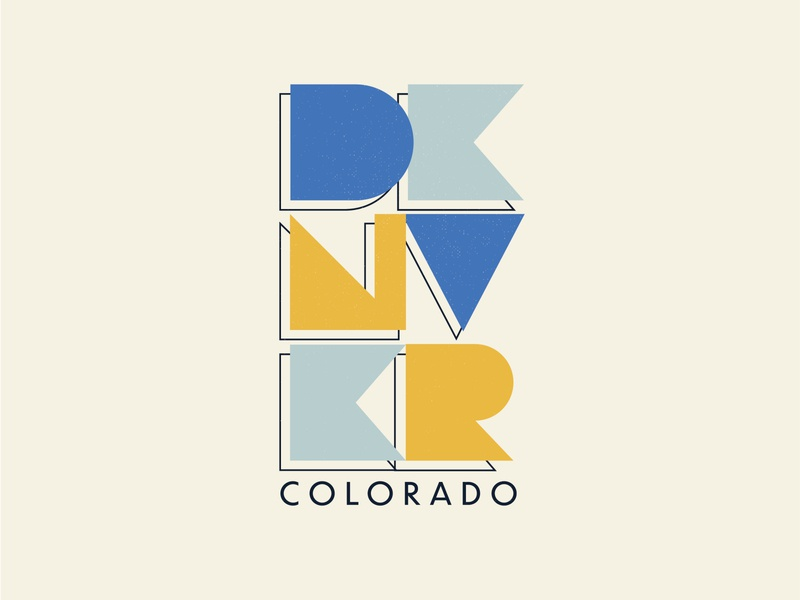 Denver Colorado Geometric Type colorado vector illustration daily 100 day project typography geometric denver