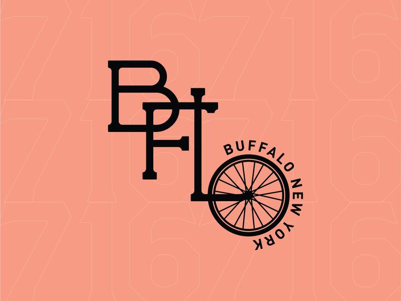 Buffalo Bikes! cycle bikes vector 100 day project daily layout design typography buffalo ny 716 buffalo