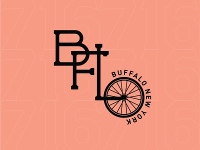 Buffalo Bikes! cycle bikes vector 100 day project daily layout design typography buffalo ny 716 buffalo