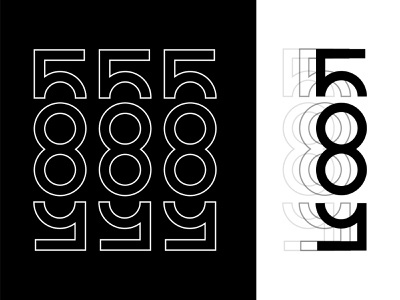 585 Rochester New York Type daily typography numbers type vector 100 day project identity design new york rochester 585 design