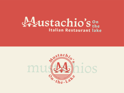 Mustachio's Italian Restaurant Logo granby colorado restaurant branding italian restaurant italian identity design logo design branding 100 day project daily typography