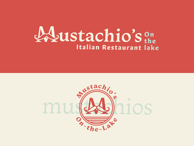 Mustachio's Italian Restaurant Logo granby colorado restaurant branding italian restaurant italian identity design logo design branding 100 day project daily typography