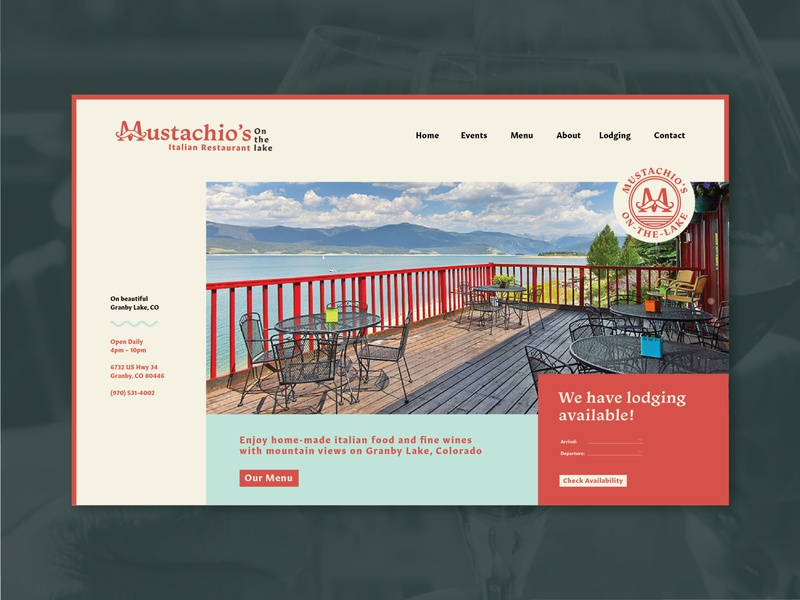 Mustachio's Italian Restaurant Homepage homepage ui website granby colorado italian restaurant italian branding daily 100 day project