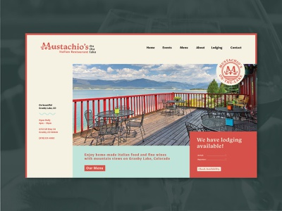 Mustachio's Italian Restaurant Homepage homepage ui website granby colorado italian restaurant italian branding daily 100 day project