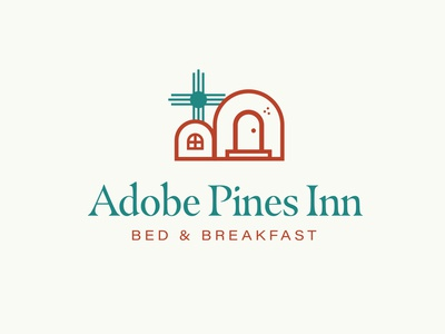 Adobe Pines Inn Bed and Breakfast Logo logo design 100 day project daily hospitality bed and breakfast new mexico taos identity design