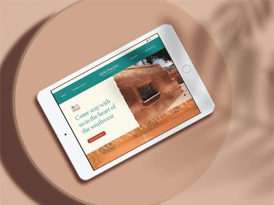Adobe Pines Bed and Breakfast Homepage design 100 day project daily ui homepage website bed and breakfast new mexico taos