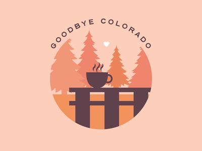 Goodbye Colorado! vector design 100 day project daily badge illustration colorado