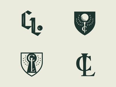Golf Club Logo Concepts logo design design golf club golf vector identity design branding