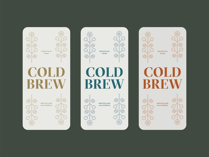Minimal Cold Brew Coffee Labels branding minimal typography packaging labels cold brew coffee