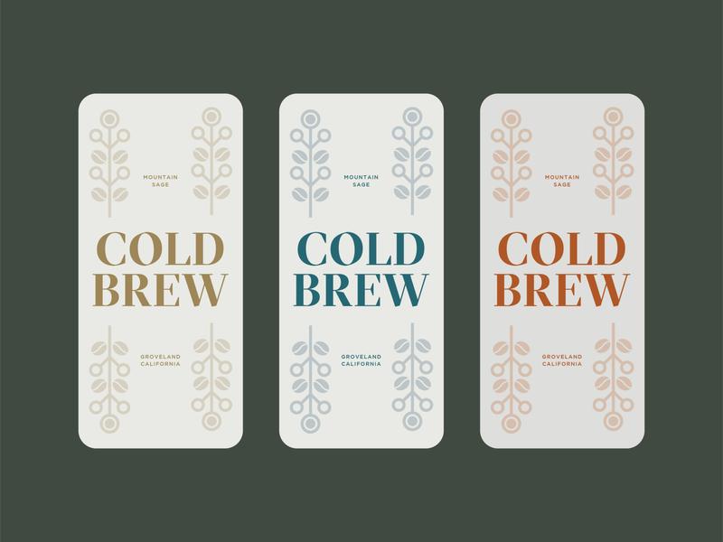 Minimal Cold Brew Coffee Labels branding minimal typography packaging labels cold brew coffee