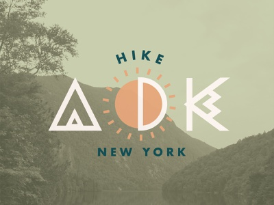 Adirondack Mountains badge design mountains new york adirondacks vector illustration logo