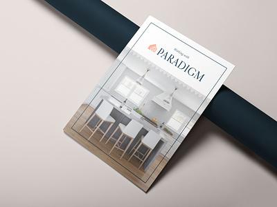 Paradigm Interior Design Brochure branding identity design icon design interior design layout graphic design print brochure catalog