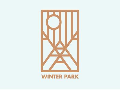 Winter Park Colorado vector colorado winter park badge design badge logo design logo