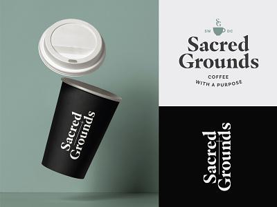 Sacred Grounds Coffee Branding lockup typography logo visual identity design coffeebar washington dc branding coffee logo design