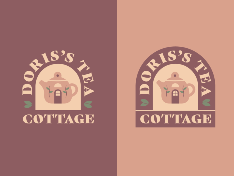 Tea Cottage Logo cottage logo cafe 100 day project daily 100days identity design branding tea