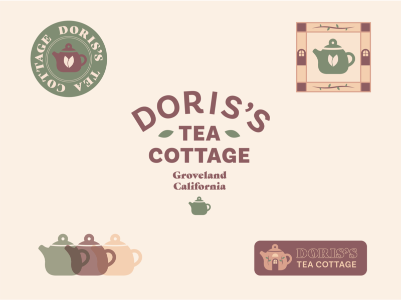 Doris Tea Lockups tea cafe vector typography lockups daily logo design 100days 100 day project identity design branding