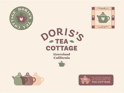 Doris Tea Lockups tea cafe vector typography lockups daily logo design 100days 100 day project identity design branding