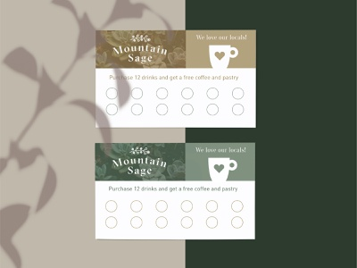 Coffee Shop Punch Cards stationery punch card daily coffee shop coffee cafe design 100days 100 day project identity design branding