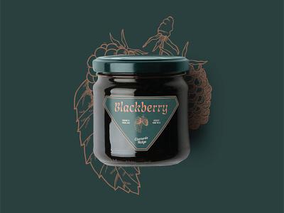 Clements Ridge Jam Label typography 100days 100 day project identity design design farm market blackberry label package design jar