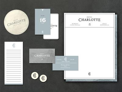 Hotel Stationery Set 100 day project daily logo design monogram hotel stationery layout design identity design branding