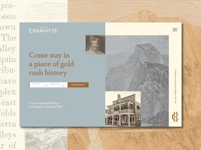 Hotel Charlotte Gold Rush Website