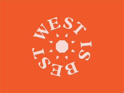 West is Best roadtrip travel west illustration typography logo 100 day project daily