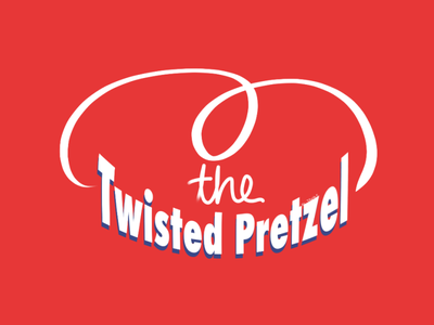 Creative Brand Logo - The Twisted Pretzel unique brand identity brand design creative raster graphic procreate branding logo logo design illustration graphic design digital design pretzel