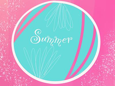 Summer badge bright colorful summer badge illustration graphic design graphic creative raster procreate digital design