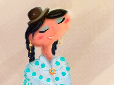Cholita Morenada Bolivia characterdesign digital painting digital illustration illustration art illustration