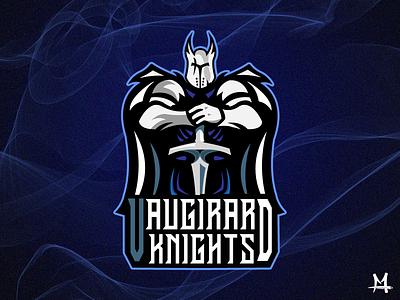 Vaugirard Knights DRIBBLE illustration logo mathieudouedesign design typography photoshop illustrator knights